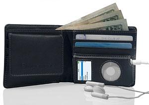 iPod nanoを収納できる財布