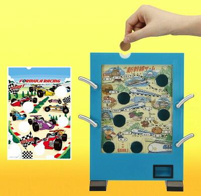 バンダイ、「駄菓子屋ゲーム貯金箱」を5月に発売