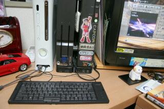 xbox360にTypeUキーボード繋ぐ