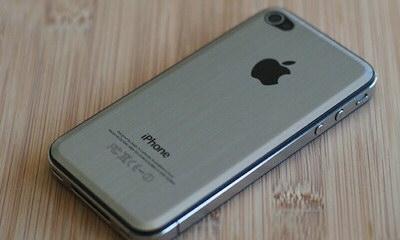 iPhoneメタルプレート