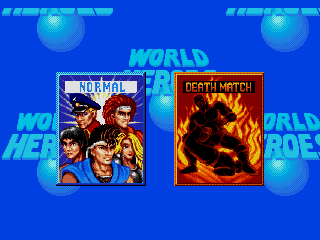 ワールドヒーローズ(GENESIS版)モードセレクト