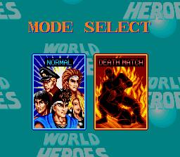 ワールドヒーローズ(SFC版)モードセレクト