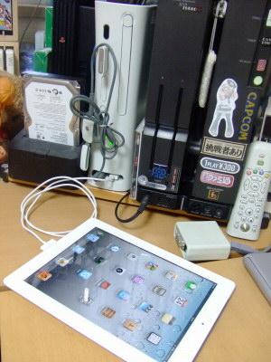 iPad2をXbox360に繋ぐ