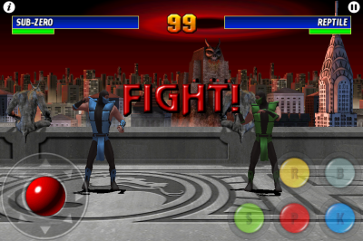 Ultimate Mortal Kombat 3 for iPhone battle