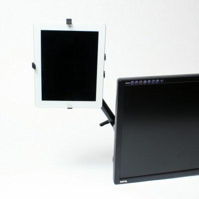 ディスプレイの横にタブレットを設置出来る!「VESA固定式タブレットアーム」