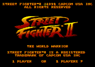 STREET FIGHTER II(AMIGA版) title