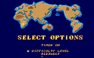 STREET FIGHTER II(AMIGA版) Level select