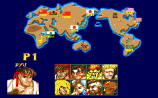 STREET FIGHTER II(AMIGA版) select