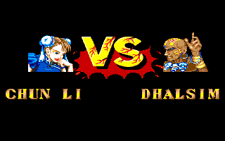 STREET FIGHTER II(AMIGA版) VS