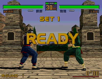 Virtua Fighter 2 battle