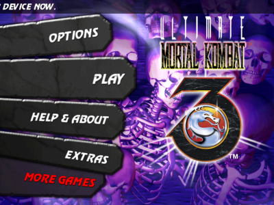 Ultimate Mortal Kombat 3 (iPad版) title