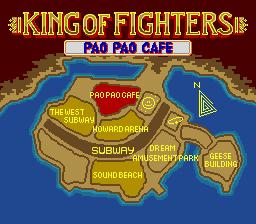 餓狼伝説 宿命の闘い(MD版) map