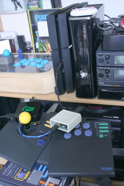 CPS FIGHTERをPlayStation4に繋ぐ