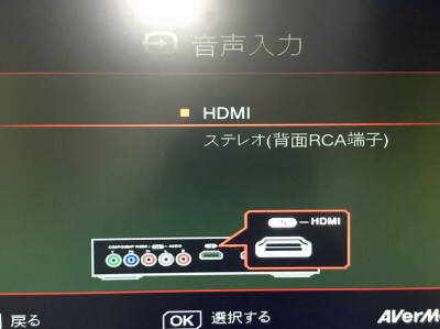 GAME CAPTURE HD II 音声