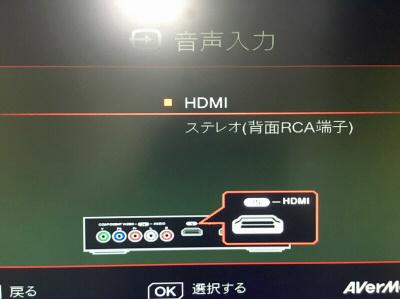 GAME CAPTURE HD II 音声
