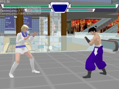 オリジナル3D対戦格闘ゲーム