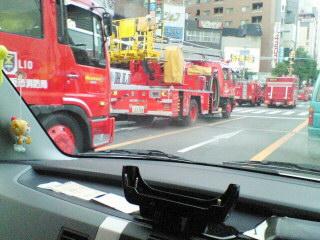 消防車がいっぱい